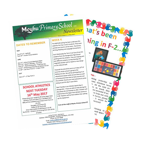 Click to view Moyhu Primary School Newsletters